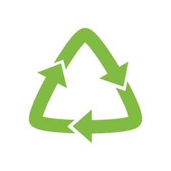 Zielona strzałka, symbol recyklingu ekologicznie czystych funduszy