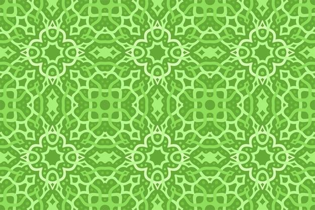 Zielona sztuka z abstrakcyjnym wzorkiem knotwork