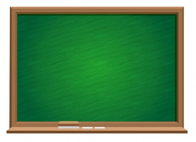 Zielona tablica z tablicą i gumką