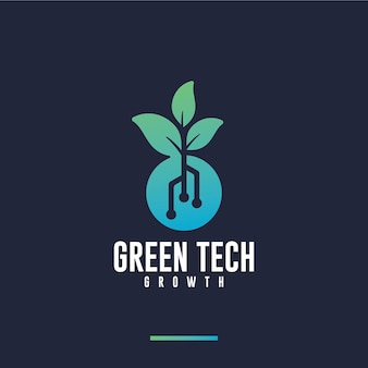 Zielona technologia, wzrost, inspiracja do projektowania logo