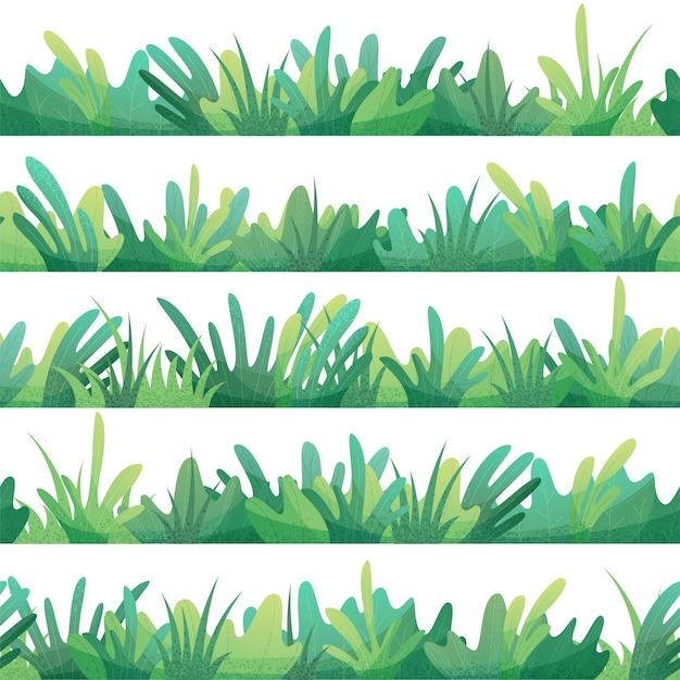 Zielona trawa i wzór liści