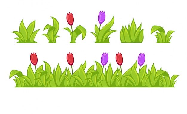 Zielona trawa. ilustracja wektorowa.