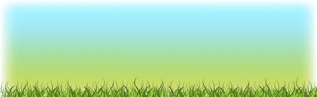 Zielona trawa trawnik z błękitne niebo natura wiosna krajobraz tło poziome