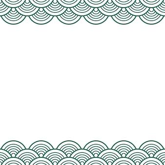 Zielona turkusowa tradycyjna fala japoński chiński granicy