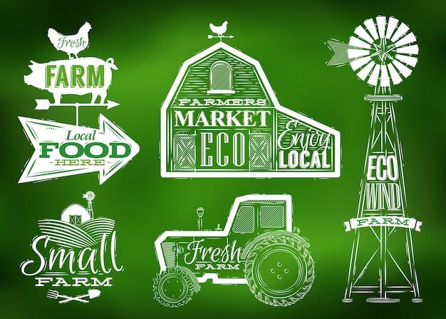 Zielona vintage gospodarstwa