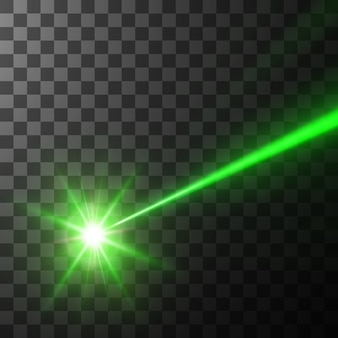 Zielona wiązka lasera,