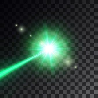 Zielona wiązka lasera