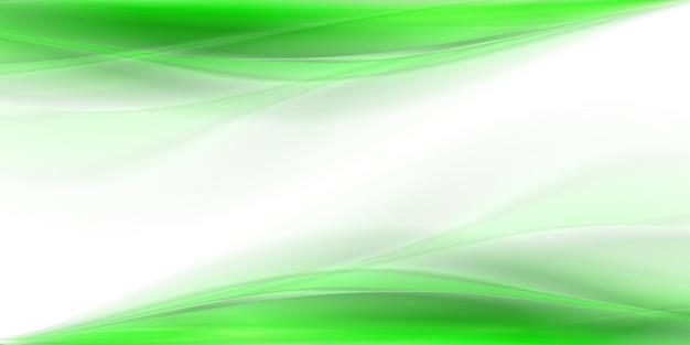 Zielone abstrakcyjne tło fali dymu