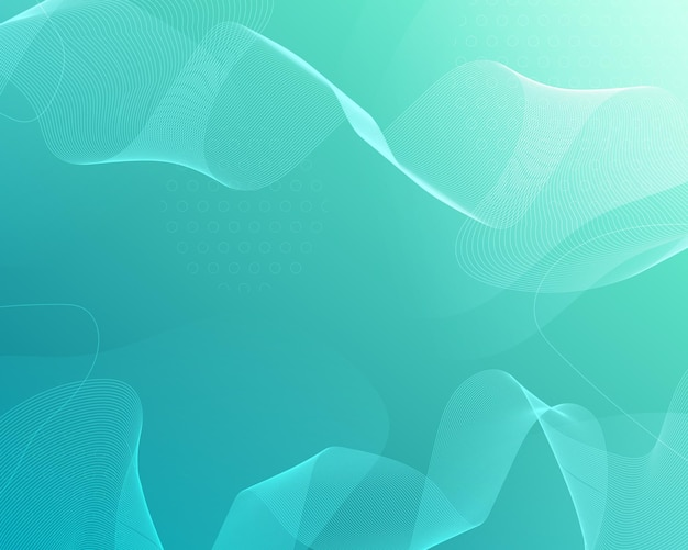 Zielone abstrakcyjne tło z falistymi liniami