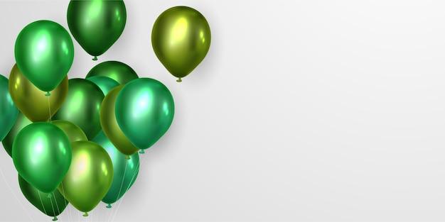 Zielone balony na przyjęcie