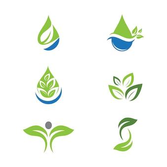 Zielone drzewo liść ekologia natura element wektor wzór