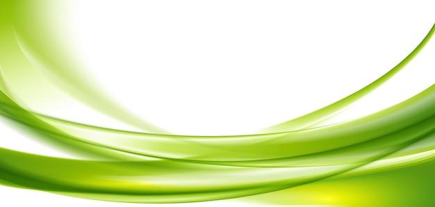 Zielone faliste tło
