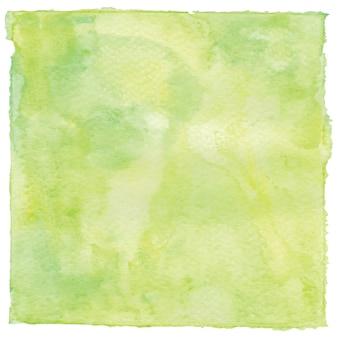 Zielone i żółte tło akwarela