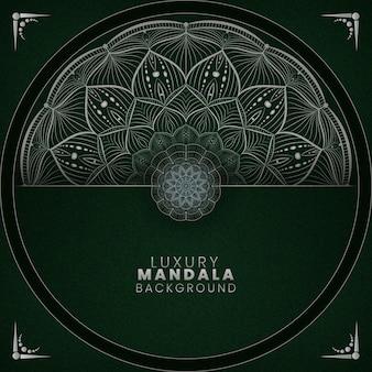 Zielone i białe tekstury luksusowe tło mandali