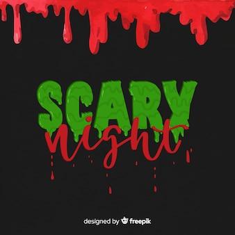 Zielone i czerwone przerażające napis nocy