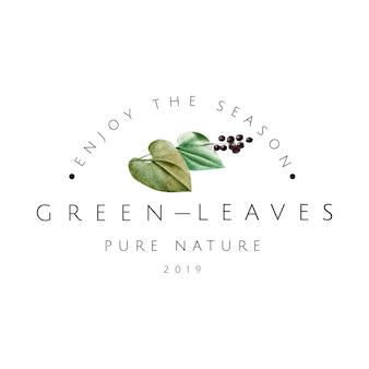 Zielone liście logo projekt wektor