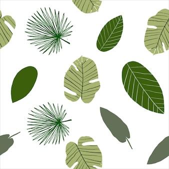 Zielone liście miejscowe bezszwowe wzór