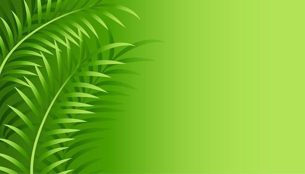 Zielone liście tło z miejsca na tekst