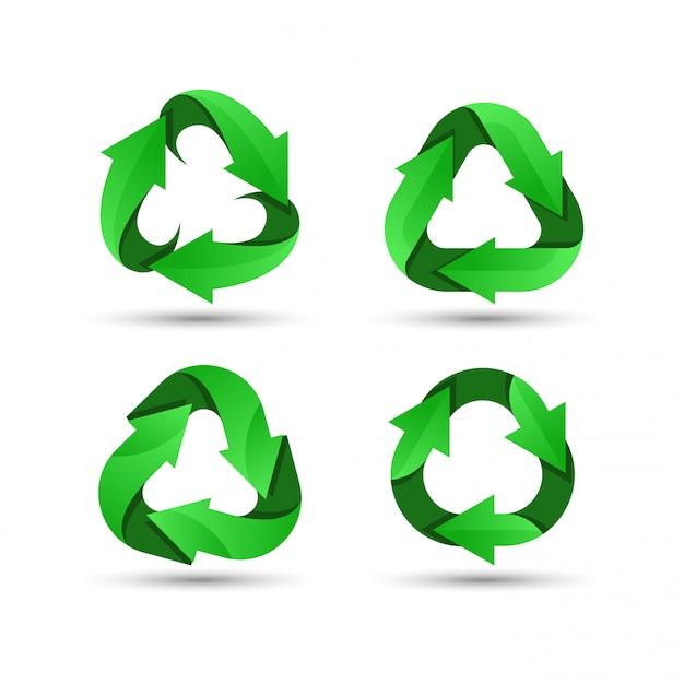 Zielone logo recyklingu