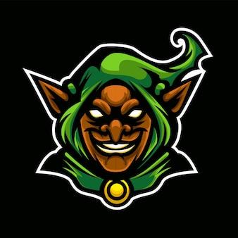 Zielone logo sportowe goblina