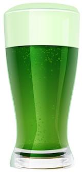 Zielone piwo w szkle