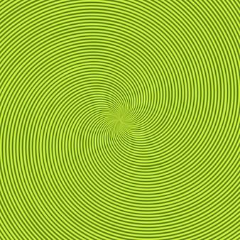 Zielone, promienne tło z okrągłym zawijasem, spiralą lub skrętem