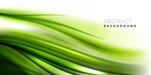 Zielone stylowe płynące faliste tło