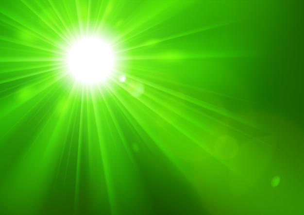 Zielone światła świeci z flary obiektywu na maski przycinającej