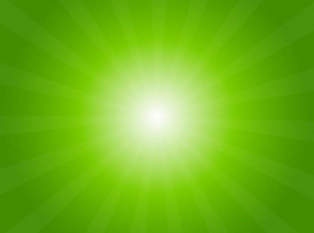 Zielone światło promieniowe tle