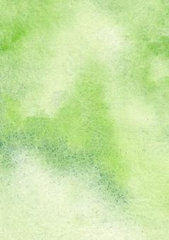 Zielone tło akwarela i streszczenie tekstura tło
