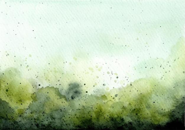 Zielone tło akwarela streszczenie tekstura