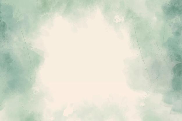 Zielone tło akwarela streszczenie