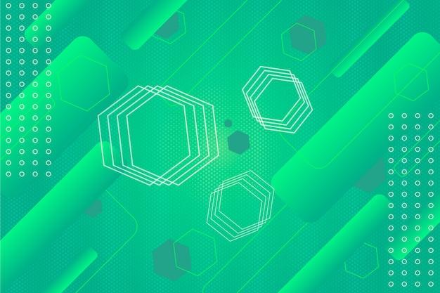 Zielone tło geometryczne