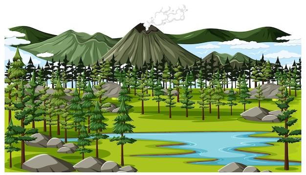 Zielone tło krajobrazu przyrody