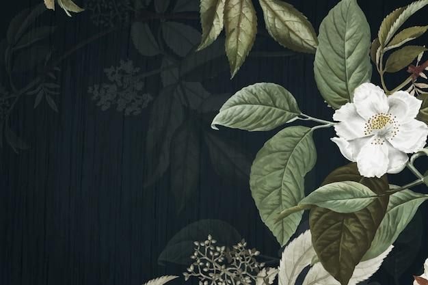 Zielone tło kwiatowy