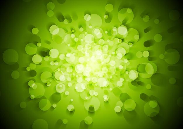 Zielone tło techniczne streszczenie z kręgów. projekt wektorowy