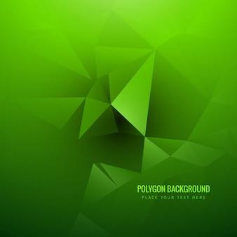 Zielone tło wielokąta