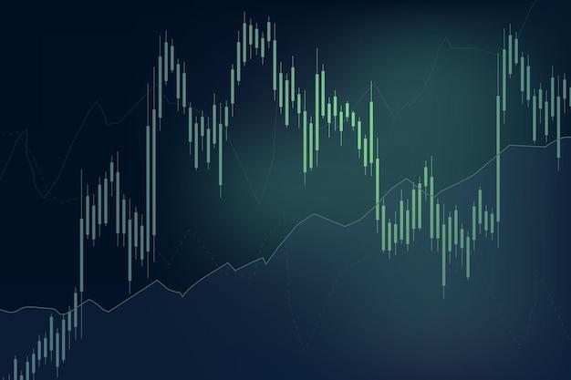 Zielone tło wykresu trendów