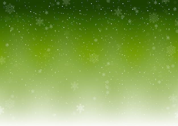 Zielone tło zima boże narodzenie