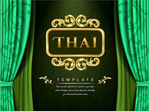 Zielone zasłony i tajski szablon.