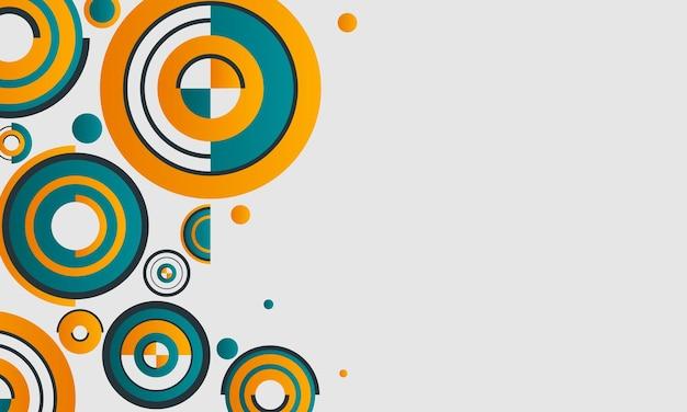 Zielone, żółte i białe tło różnych okręgów. wzór na broszury biznesowe, ulotki.