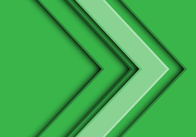 Zielonego brzmienia strzała kierunku futurystyczny tło.