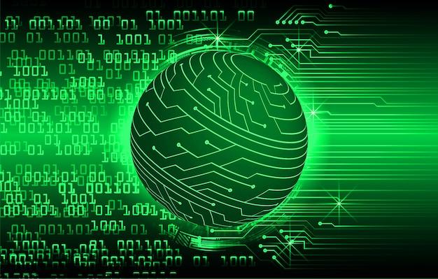 Zielonego świata cyber obwodu technologii przyszłości tło