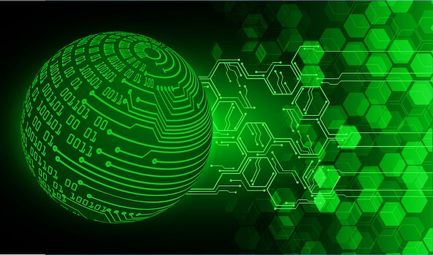 Zielonego światowego cyber obwodu technologii przyszłościowy pojęcia tło