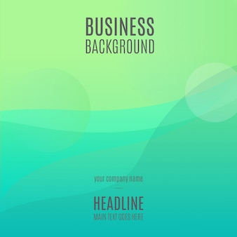 Zielony Abstrakcjonistyczny Biznesowy Tło