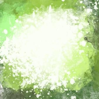 Zielony akwarelowy tle