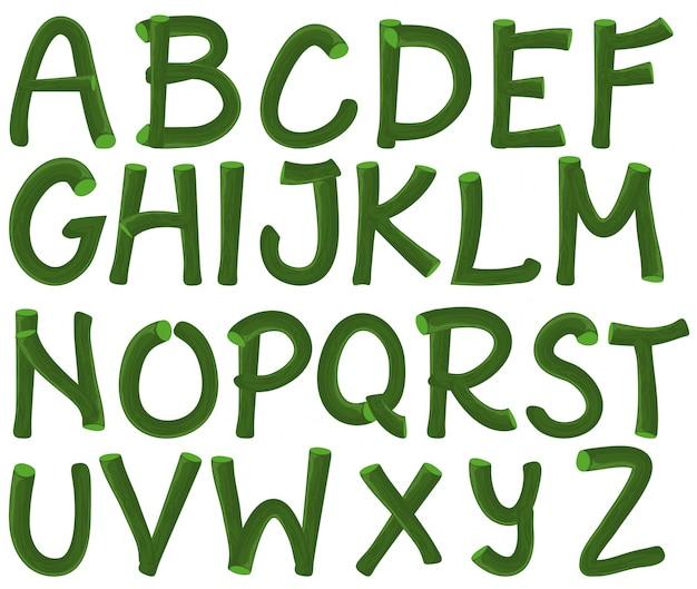 Zielony alfabet