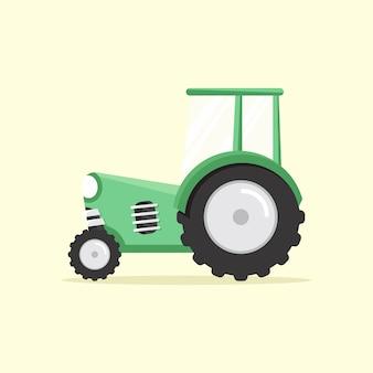Zielony ciągnik
