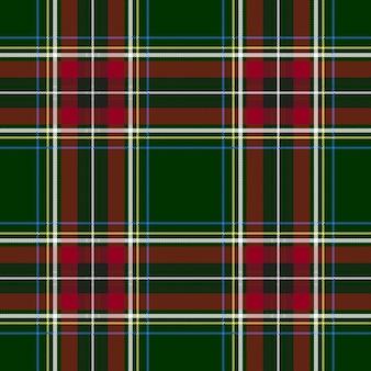 Zielony czerwony czek kratę tekstylny wzór