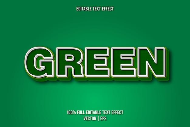 Zielony edytowalny efekt tekstowy w stylu retro